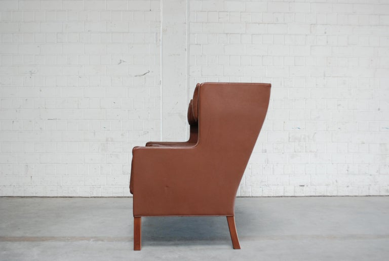 Børge Mogensen Leather Sofa Coupe 2192 for Fredericia For Sale 7