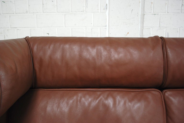 Børge Mogensen Leather Sofa Coupe 2192 for Fredericia For Sale 9