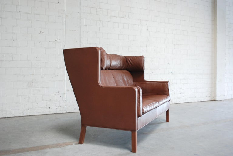 Børge Mogensen Leather Sofa Coupe 2192 for Fredericia For Sale 10
