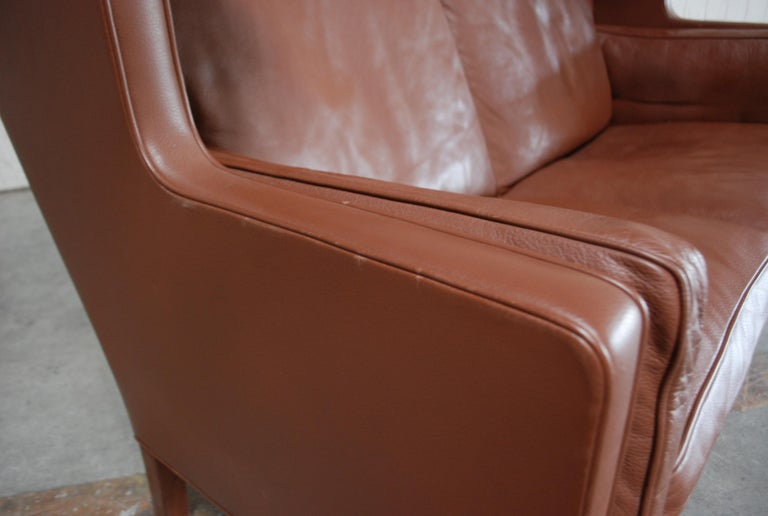 Børge Mogensen Leather Sofa Coupe 2192 for Fredericia For Sale 11