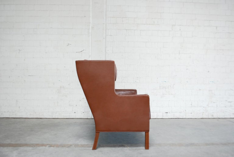 Børge Mogensen Leather Sofa Coupe 2192 for Fredericia For Sale 12