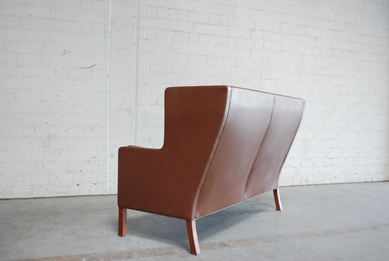 Børge Mogensen Leather Sofa Coupe 2192 for Fredericia For Sale 14