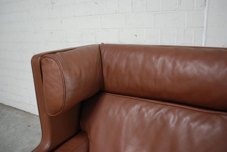 Børge Mogensen Leather Sofa Coupe 2192 for Fredericia In Good Condition For Sale In Munich, Bavaria