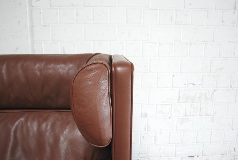 20th Century Børge Mogensen Leather Sofa Coupe 2192 for Fredericia For Sale