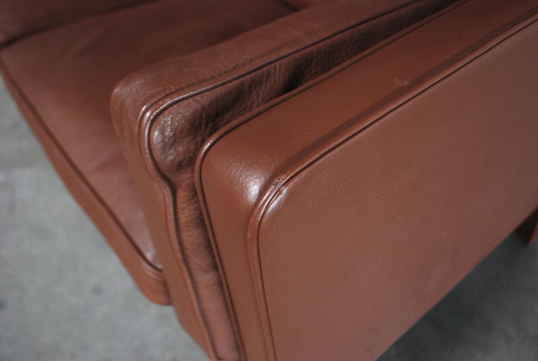 Børge Mogensen Leather Sofa Coupe 2192 for Fredericia For Sale 1