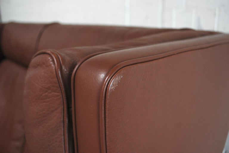 Børge Mogensen Leather Sofa Coupe 2192 for Fredericia For Sale 2