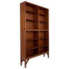 Borge Mogensen Mid Century Teak 3 Piece Bookcase Unit