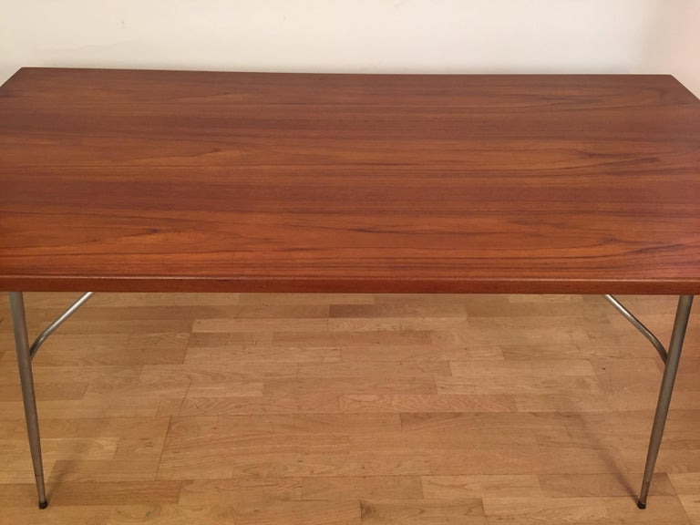 Mid-Century Modern Borge Mogensen Rectangular Teak Dining/Work Table, 1956 For Sale