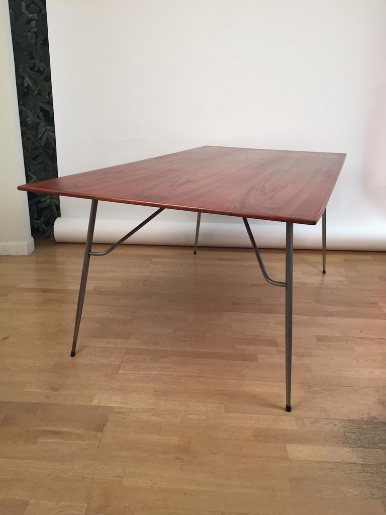 Mid-20th Century Borge Mogensen Rectangular Teak Dining/Work Table, 1956 For Sale