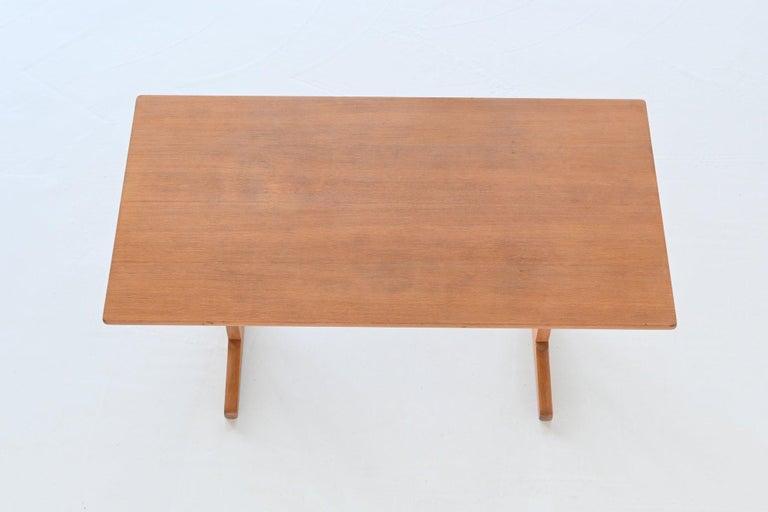 Børge Mogensen Shaker C18 Soaked Oak Dining Table FDB Mobler, Denmark, 1947 For Sale 7