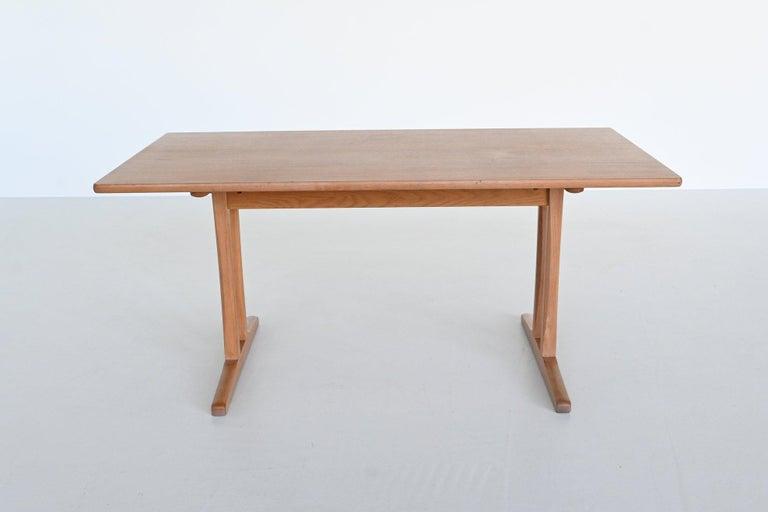Mid-Century Modern Børge Mogensen Shaker C18 Soaked Oak Dining Table FDB Mobler, Denmark, 1947 For Sale