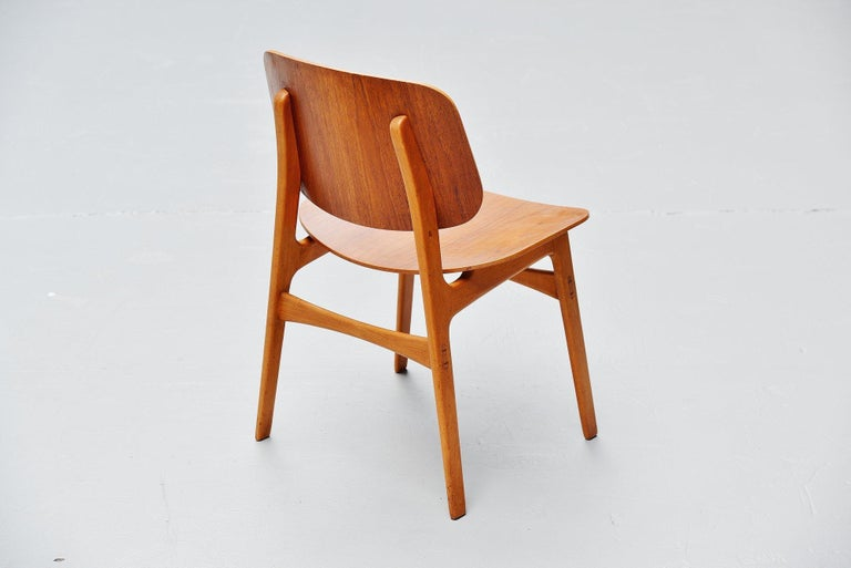 Mid-20th Century Borge Mogensen Soborg Dining Chairs Denmark 1950 For Sale