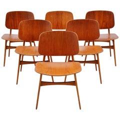 Esszimmerstühle von Borge Mogensen für Soborg, Dänemark, 1950