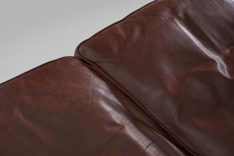 Borge Mogensen Sofa 2443 in Dark Brown Leather For Sale 3