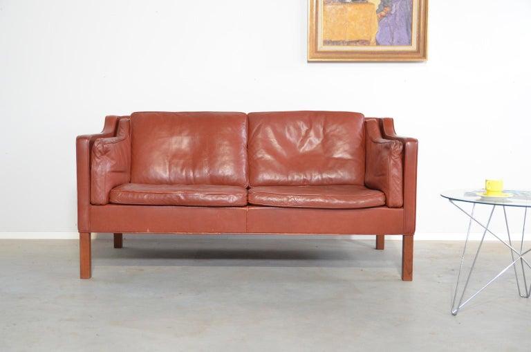 Mid-Century Modern Borge Mogensen two-seat Sofa Model 2212 for Fredericia Danmark For Sale