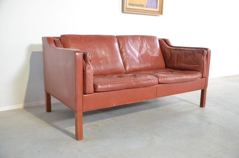 Danish Borge Mogensen two-seat Sofa Model 2212 for Fredericia Danmark For Sale