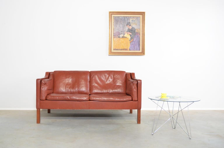 Borge Mogensen two-seat Sofa Model 2212 for Fredericia Danmark For Sale 2