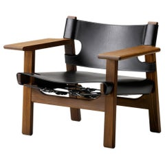 Borge Mogensen Spanish Chair, Black