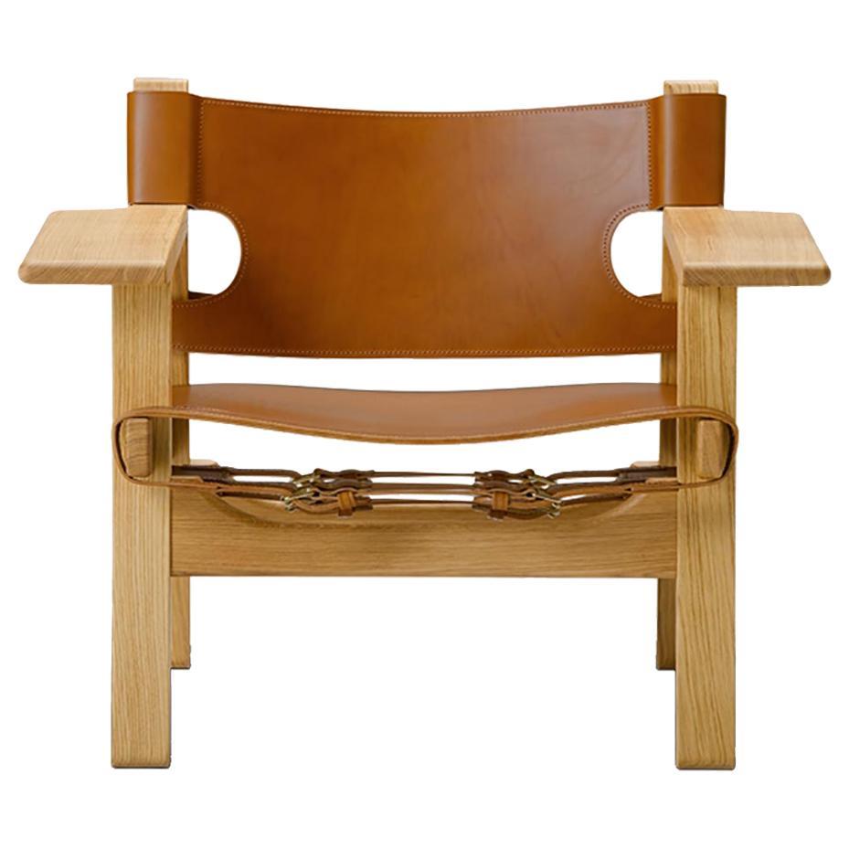 Borge Mogensen Spanish Chair, Cognac