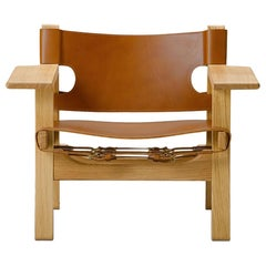Borge Mogensen Spanish Chair, Cognac