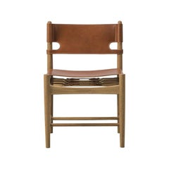 Borge Mogensen Spanish Dining Chair, Model 3237, Cognac