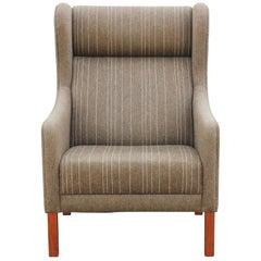 Borge Mogensen Style Danish Modern Wingback Lounge Chair
