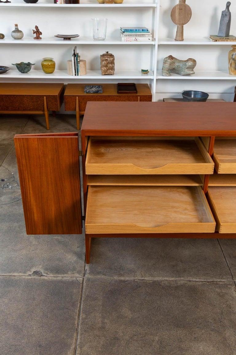 Bronze Borge Mogensen Teak Credenza For Sale