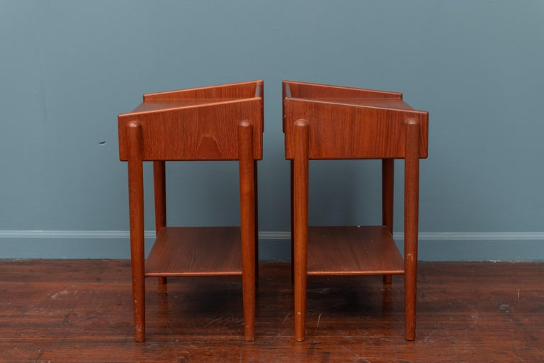 Borge Mogensen Teak Nightstands In Good Condition For Sale In San Francisco, CA