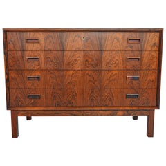 Borge Seindal Rosewood Four-Drawer Gentleman's Chest