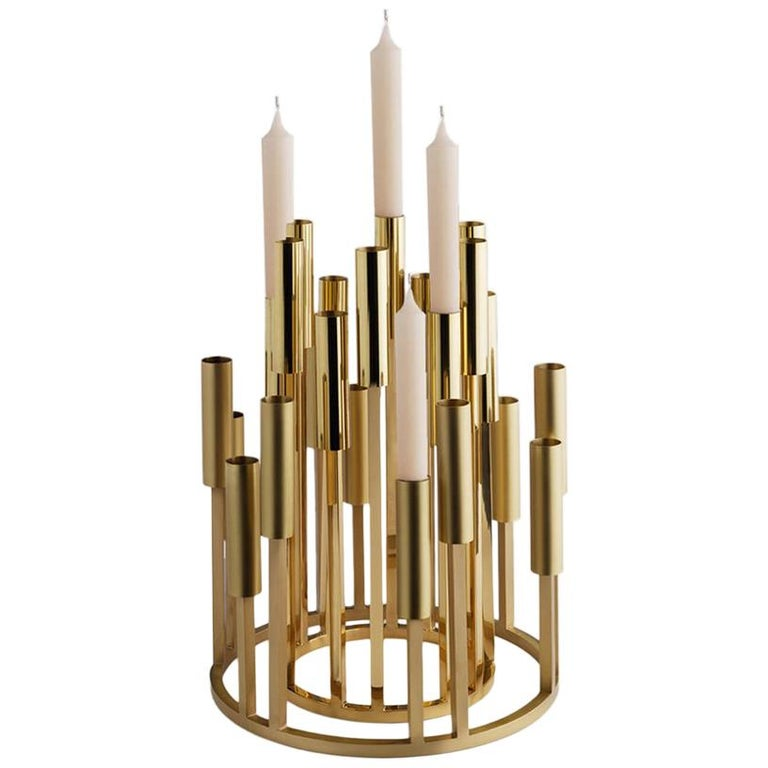 Borgia Brass Chandelier, Carla Baz For Sale