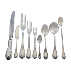Borgia by Buccellati Italy Sterling Silver Dinner Flatware Set Service 115 Pcs