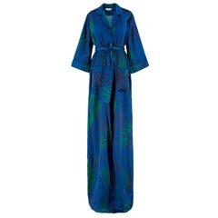Borgo De Nor Blue Leaves Shirt Dress UK 8