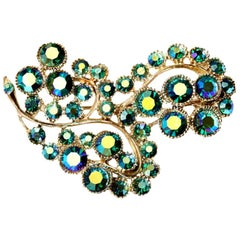Boris Aurealis Iridescent Crystal Pin Brooch Vintage