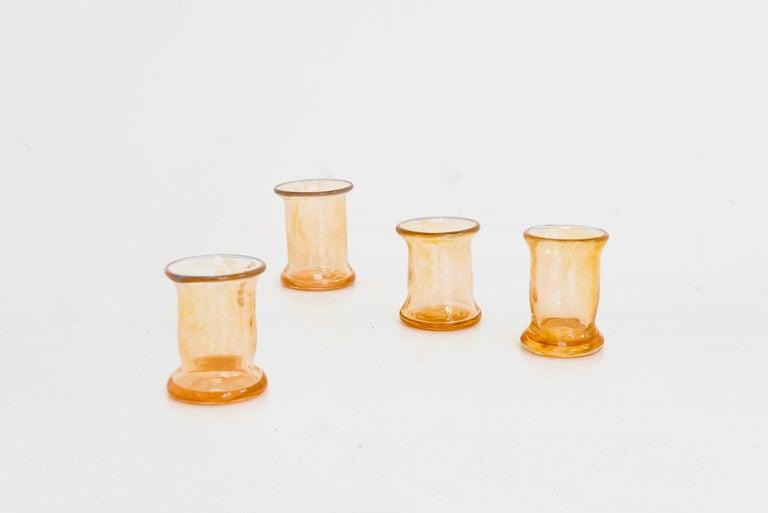 Dutch Boris De Beijer Blown Glass Carafe Glasses from the Series Coupes De Pompadour For Sale