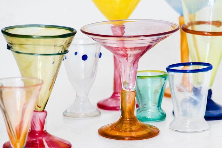 Contemporary Boris De Beijer Blown Glass Carafe Glasses from the Series Coupes De Pompadour For Sale