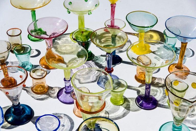Boris De Beijer Blown Glass Carafe Glasses from the Series Coupes De Pompadour For Sale 1