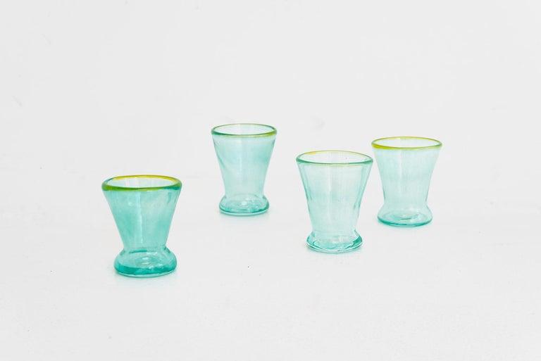 Dutch Boris De Beijer Colourful Carafe and Glasses from the Series Coupes De Pompadour For Sale