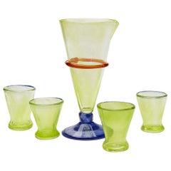 Boris De Beijer Colourful Carafe and Glasses from the Series Coupes De Pompadour