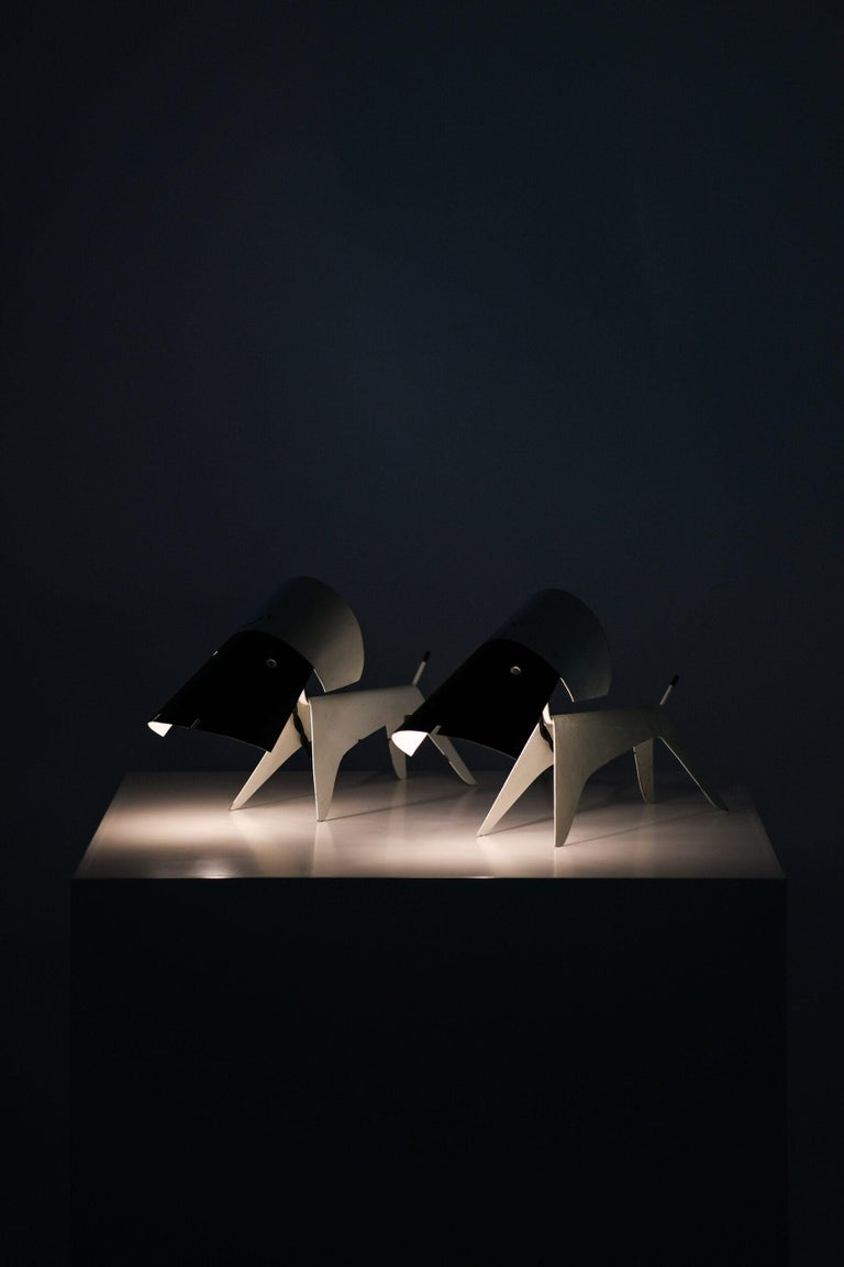 Mid-20th Century Boris Lacroix Table Lamps Produced by Disderot in France For Sale