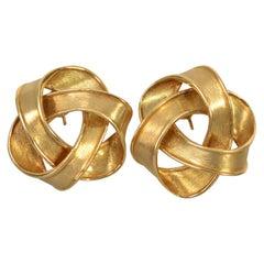 Boris LeBeau Gold Swirl Earrings
