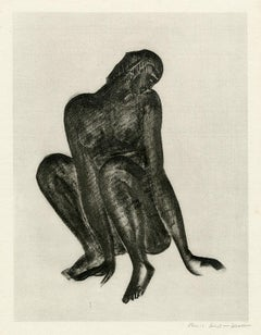 Untitled (Black Woman Crouching)