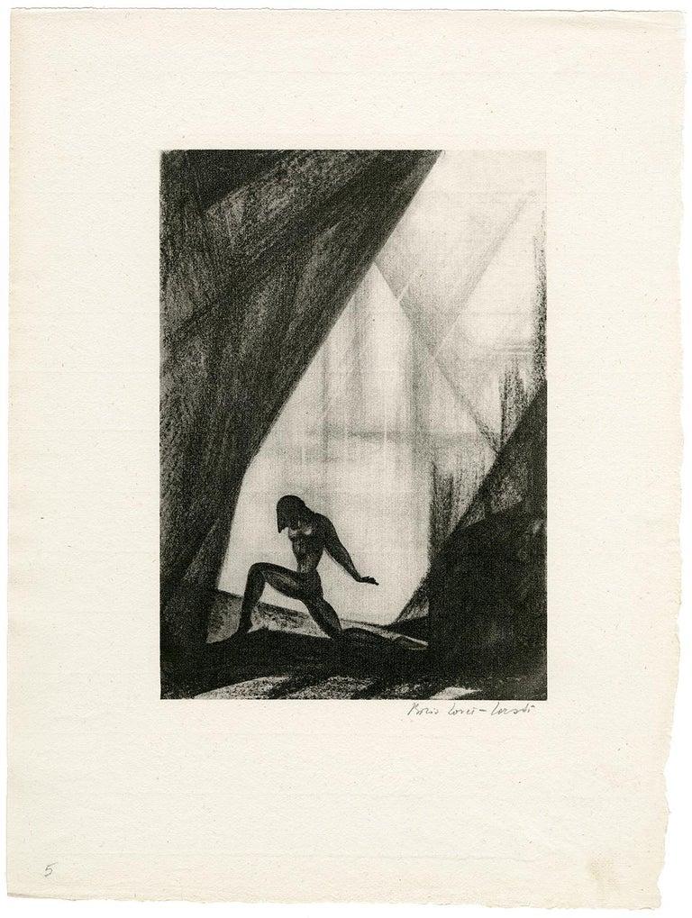 Untitled (Nude in Landscape) - Print by Boris Lovet-Lorski