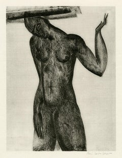 Untitled (Nude with Hand Raised)