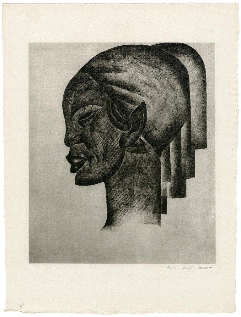 Untitled (Profile of an African Woman) - Print by Boris Lovet-Lorski