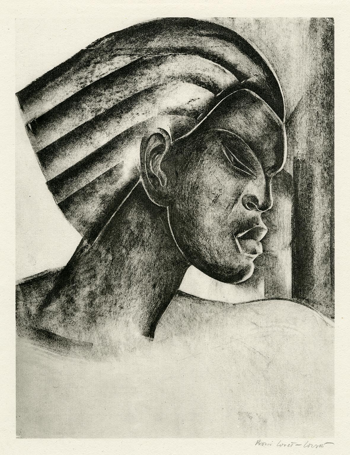 Untitled (Profile of an African Woman)