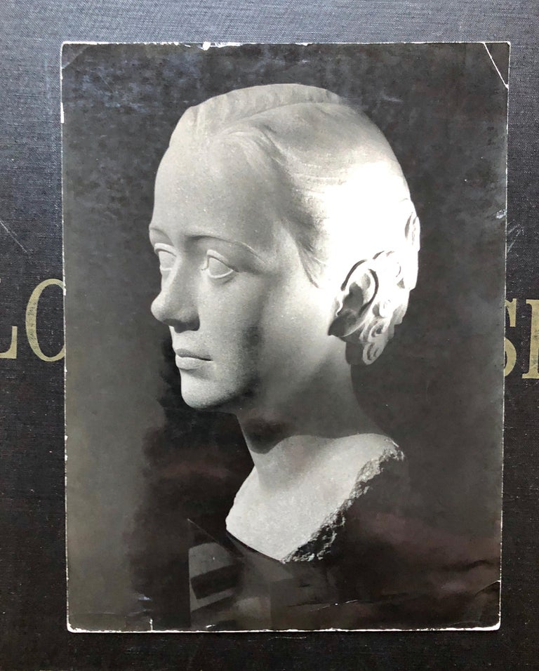 Art Deco Sculpture Flapper Womans Head Xenozane Marble Stone For Sale 8