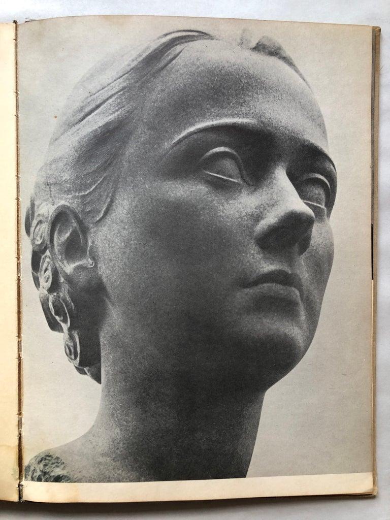 Art Deco Sculpture Flapper Womans Head Xenozane Marble Stone For Sale 17