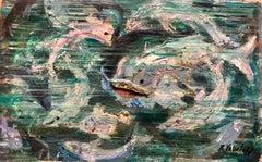 Mixed Media Under Sea Fish Fantasy Oil Painting
