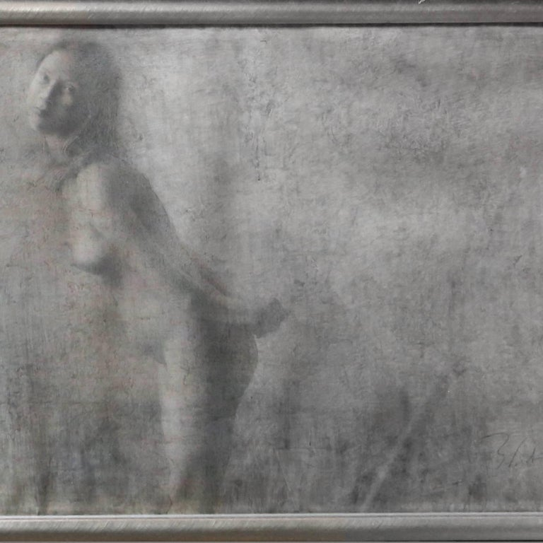 Artist: Boris Zabarov, Belarusian (b. 1935) Title: Garcon pres d'une Table et une Nue Year: 1996 Medium: Mixed Media on Paper, signed l.r. Size: 24.5 x 78.75 inches