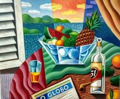 Bodegón Brasil - original still life cubism painting contemporary modern art